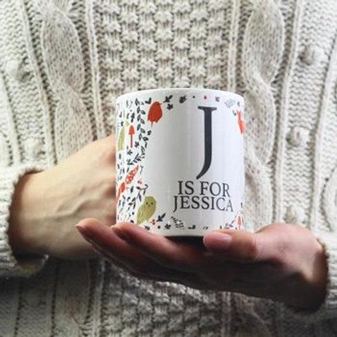 Personalised woodlands mug