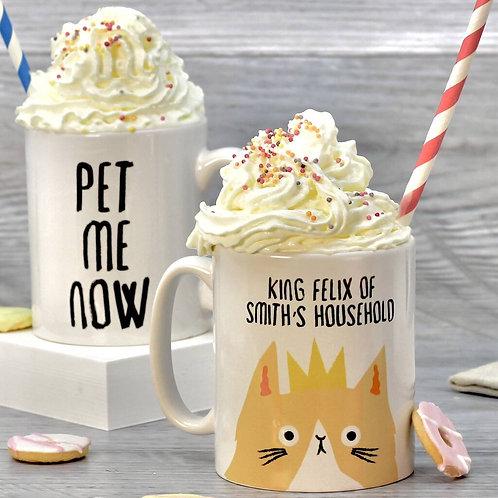 Personalised Sassy Cat Mug