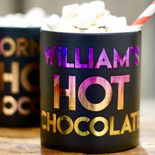 Personalised Metallic Hot Chocolate Mug