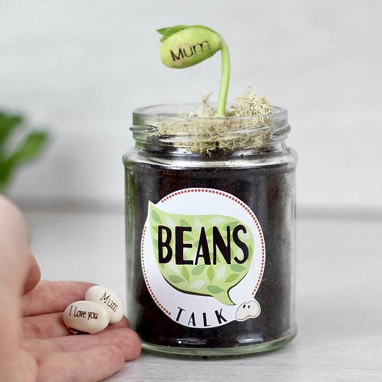 Beans Talk Message Seeds Jar Set