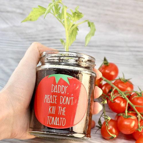 Personalised 'Don't Kill Me' Cherry Tomato Jar Grow Kit