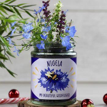 Personalised happy wildflower jar