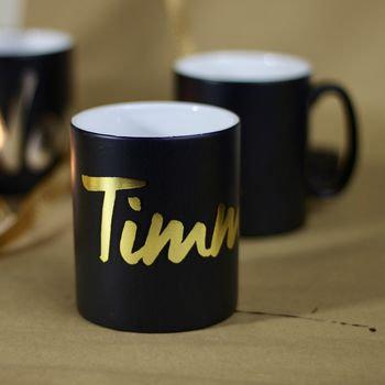 Metallic name  mug