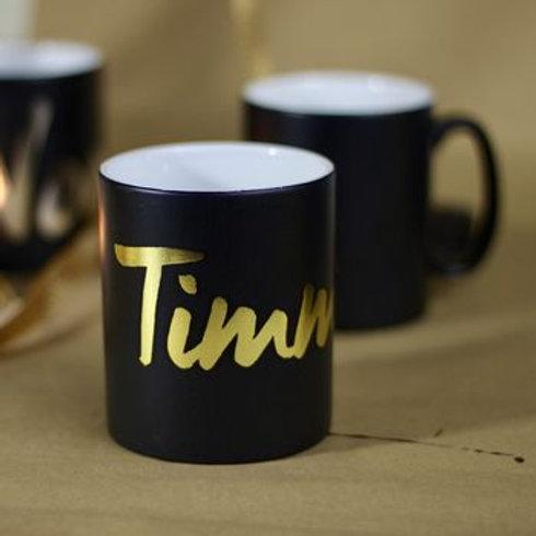 Personalised Metallic Name Mug