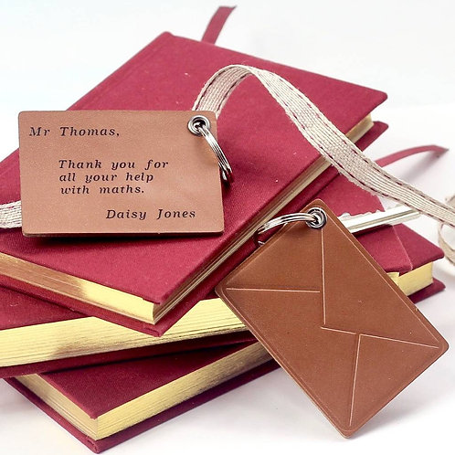 Personalised Letter Leather Key Ring