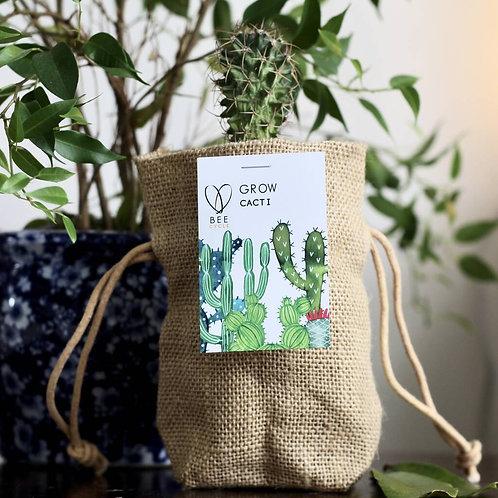 Cactus Jute Bag Grow Set