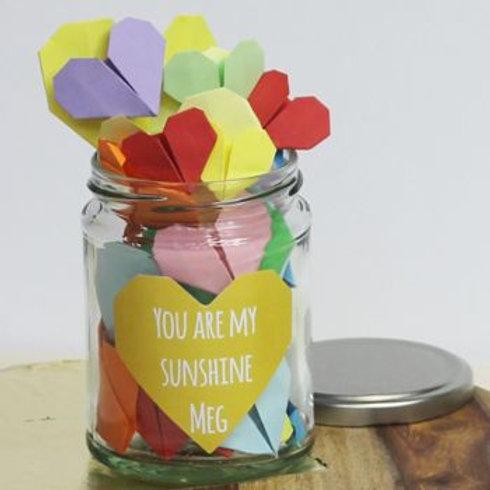Personalised message love jar