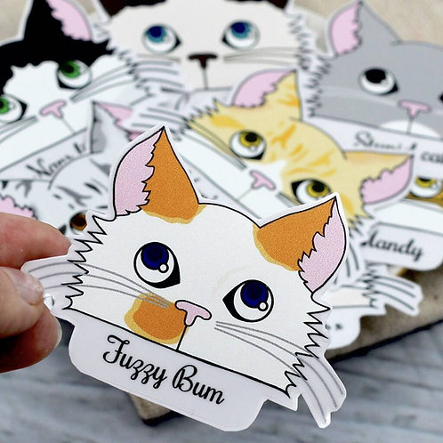 Personalised Cat Stickers 20 Pack