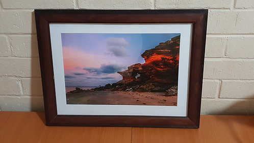 Entrance Point Window Rock A3 Framed Print