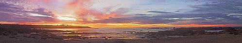 Gantheaume Beach Lighthouse Sunset