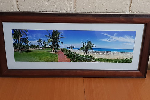 Cable Beach View 20 x 60cm Framed Print