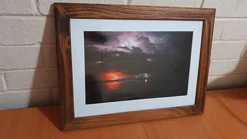 Fire And Lightning A3 Framed Print