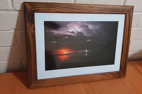 Fire And Lightning A3 Framed Print