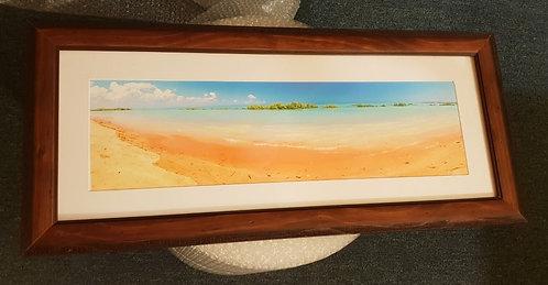 Roebuck Bay King Tide Colours 20 x 60cm Framed Print