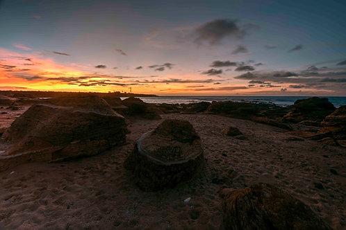 Gantheaume Point Rock Sunset