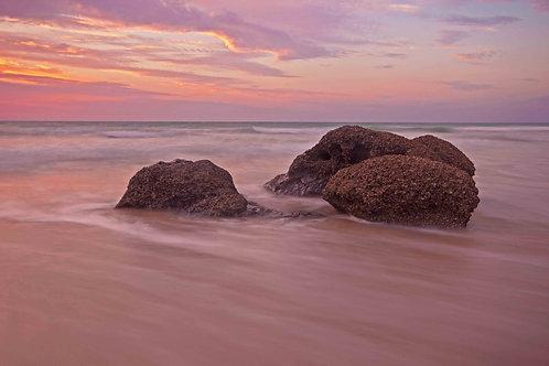 Cable Beach Rocks Wet Season Sunset