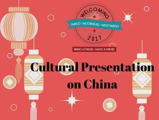 Cultural Presentation: China
