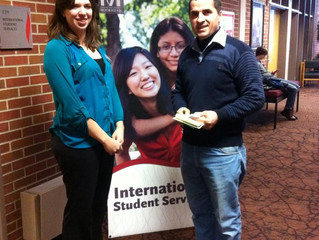 Ezzat at the Student Volunteering day for nonprofit  organizations