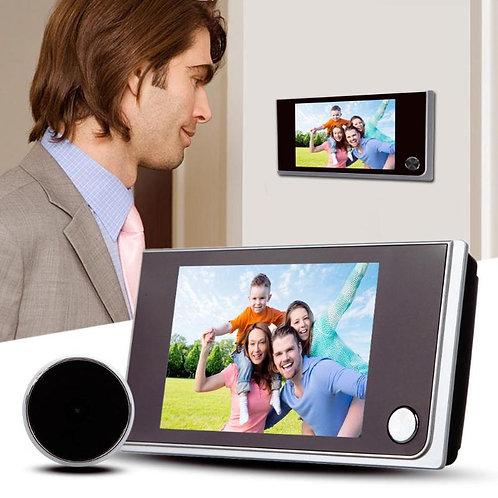 עינית דיגיטלית לדלת כולל מצלמה , מסך צבע 3.5 אינצ' , 120 מעלות צפייה