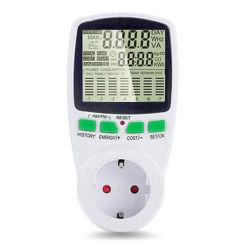 מד צריכת חשמל דיגיטלי + עלות בש.ח , מכשיר בודק ומודד צריכת חשמל