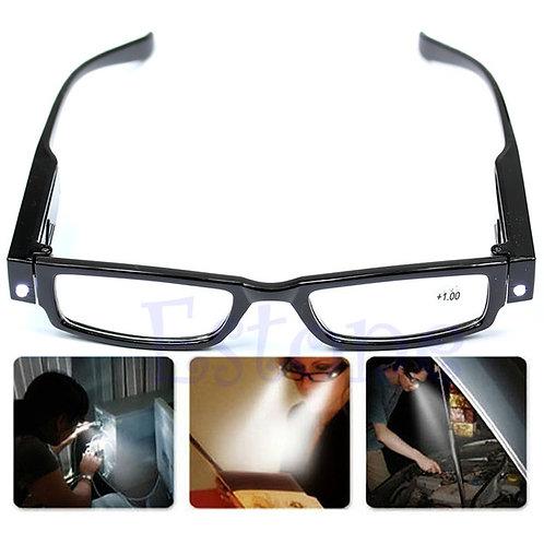 משקפיים לקריאה עם תאורת לד בשני הצדדים , משקפי קריאה מאירים