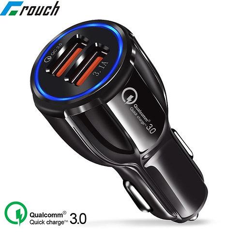 מטען כפול מהיר לרכב בטכנולוגיית QUALCOMM 3.0