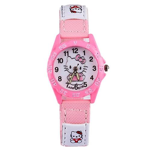 שעון הלו קיטי לבנות , שעון לילדים By0137
