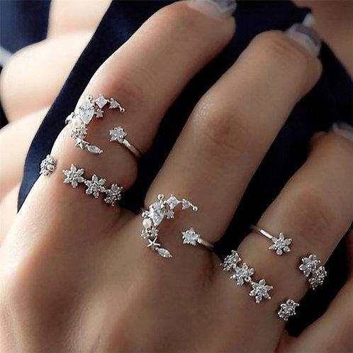 סט טבעת כוכבים וחצי ירח