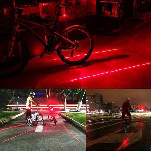פנס אחורי לאופניים 5 אורות לד פונקציונלי ביותר , עם סמן דרך בטיחותי