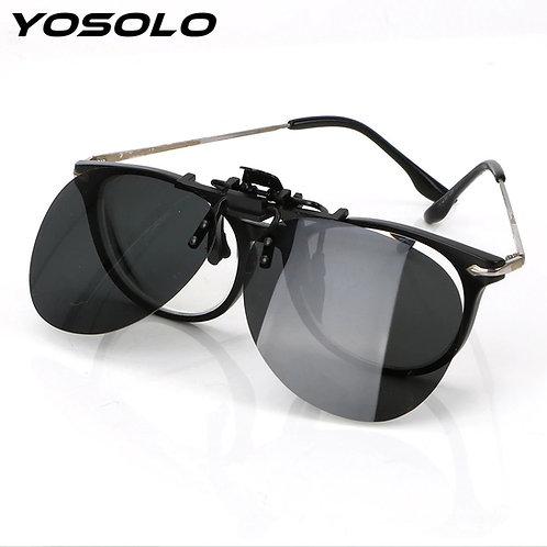 קליפ משקפי שמש אובלי - מעוגלות פולרואיד על משקפי ראיה , קליפון שמש By0135
