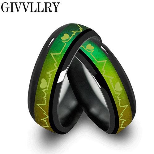 טבעת מחליפה צבעים מיוחדת מטיטניום , טבעת מצב רוח , טבעת רגשות