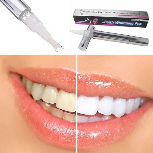 עט ג'ל להלבנת שיניים , מבהיר מלבין שיניים היגיינת פה - Bright White