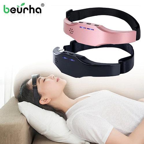 מכשיר עיסוי נטען למצח , רצועת עיסוי לטיפול בנדודי שינה, כאבי ראש , מיגרנה