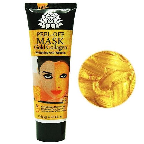 מסכת זהב 24 קראט לטיפול בקמטים והצערה של עור הפנים