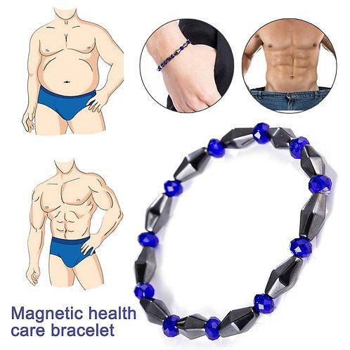 צמיד הרזייה מגנטי , עם מגנטים משולב עם חרוזי המטייט By0141
