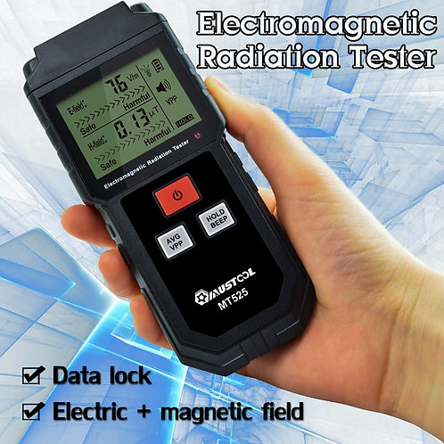 מד קרינה אלקטרומגנטית מקצועי דיגיטלי , מכשיר מודד קרינה ביתי ET825