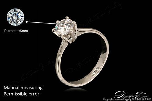 טבעת פרח בשילוב זירקונים מצופה פלטינום 18 קרט