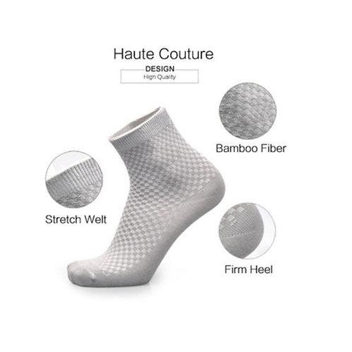 גרביים מסיבי במבוק נושמות אנטיבקטיראלי למניעת לחות ומניעת ריחות