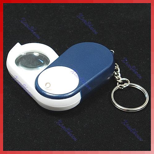 מחזיק מפתחות זכוכית מגדלת עם תאורה