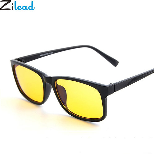 משקפיים למחשב ומסכים עם עדשות  צהובות מסננות אור כחול למניעת עייפות העיניים