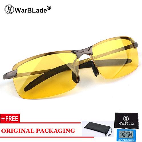 משקפיים לנהיגה בלילה עם עדשות צהובות נגד סינוור , פולורואיד Night V.