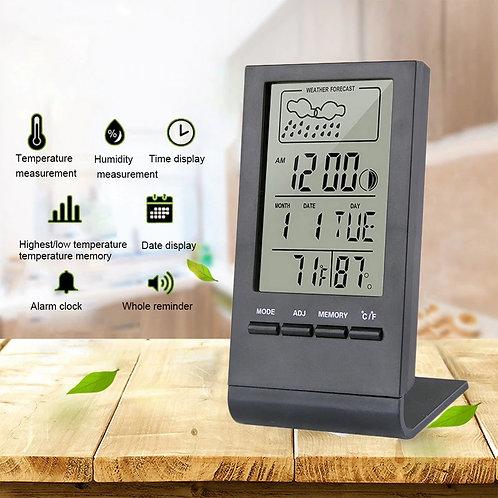 מד טמפרטורה ולחות היגרומטר דיגיטלי צג Lcd