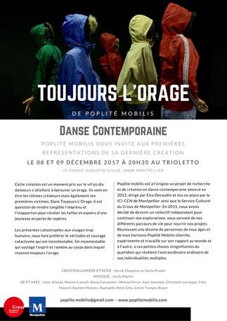 Toujours L'Orage Première !