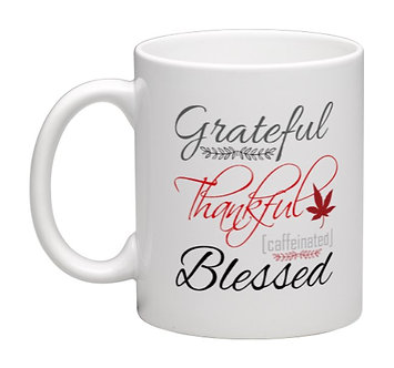 Coffee Mug Grateful Thankful Blessed 11oz.
