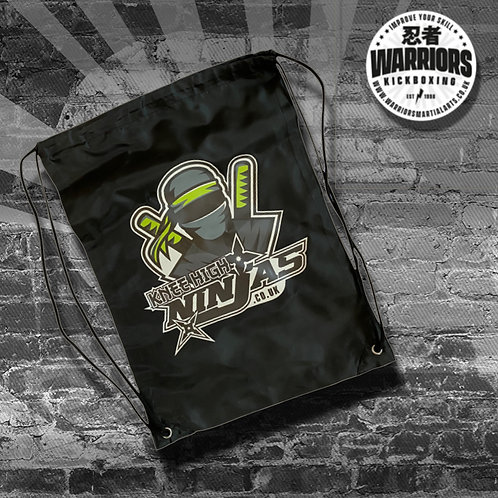 KNEE HIGH NINJAS DRAWSTRING BAG