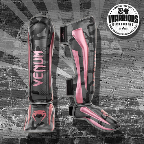 VENUM ELITE SHIN GUARDS - BLACK/PINK GOLD