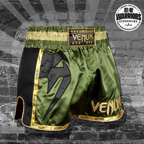 VENUM GIANT MUAY THAI SHORTS - KHAKI/BLACK