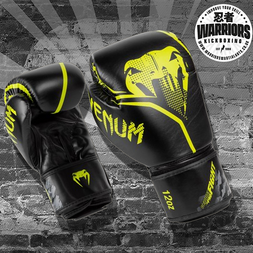 VENUM CONTENDER 1.2 BOXING GLOVES - BLACK/YELLOW OR BLACK/WHITE