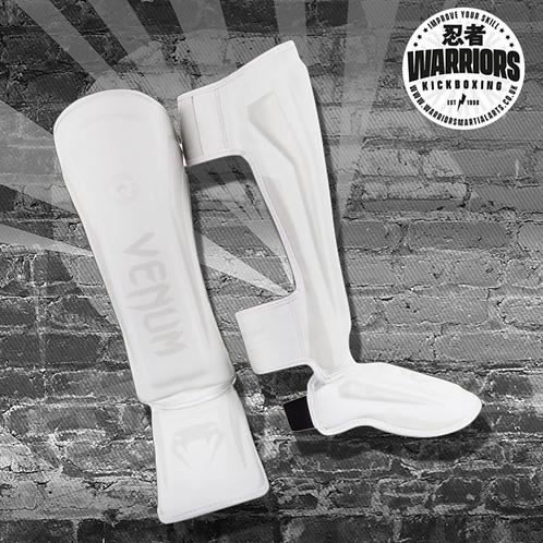 VENUM ELITE STANDUP SHIN GUARDS - WHITE/WHITE