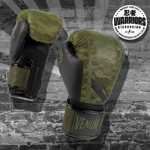 VENUM TROOPER BOXING GLOVES - FOREST CAMO/BLACK